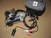 Компрессор (DK31-003) 12V, 10Атм, 38л/мин, автостоп, прикуриватель+клеммы, шланг 4м., <ДК>