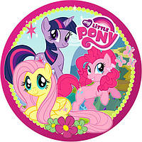 """Детские одноразовые бумажные тарелки """"My Little Pony"""""""