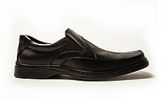 Мужские кожаные туфли  квадро