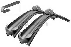 Щітки склоочисника (двірник) Bosch (3397118906) комплект 55,53 см безкаркасні на Ауді Сітроен Фіат Тойота