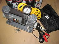 Компрессор (DK31-003B) 12V, 10Атм, 150л/мин, 2-х поршневый, клеммы, шланг 5м., <ДК>