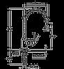 Смеситель TEKA INCA H (IN 995) хром/гранит (черный металлик), фото 2