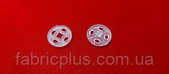 Кнопка пришивная 10 мм прозрачная пластик (24 шт на блистере)