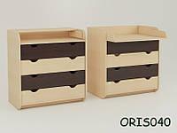 Комод-пеленатор на 4 ящика Natural Oris-mebel Комбинированный Зебра светлый (венге) ORIS040