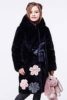 Красивая мутоновая шуба для девочки Кики, р-ры 116 -128,ТМ Nui very