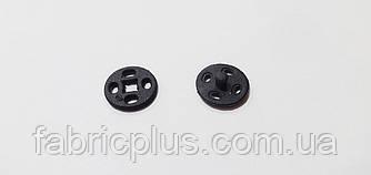 Кнопка пришивная 10 мм черная пластик (24 шт в блистере)