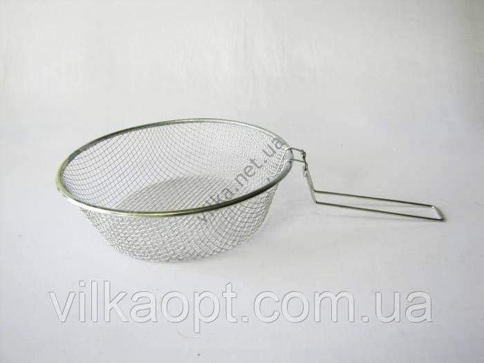 Фритюрница нержавеющая 26 х 8 cm (100 шт)