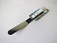 Шпатель кондитерский нержавеющий изогнутый с пластмассовой ручкой 20 cm