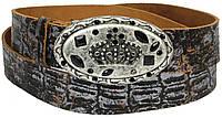 Дизайнерский женский ремень с пряжкой Корона, Vanzetti, Германия, 100043 коричневый, 4х119 см