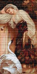 """Набор для вышивания крестиком (люди) """"Одалиска"""". Художник Фредерик Лейтон"""