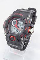 Мужские спортивные наручные часы Skmei черные+красные