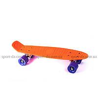 PENNY КЛАССИК оранжевый с фиолетовыми колесами