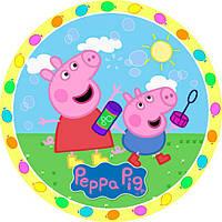 """Детские одноразовые бумажные тарелки """"Peppa Pig"""""""