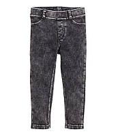 Лосины треггинсы под джинс с карманами H&M для девочки 116-134