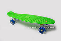 PENNY ORIGINAL зеленый со светящимися синими колесами