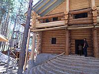 Строительство дома из дикого бруса Харьков