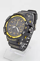 Мужские спортивные наручные часы черные+желтые