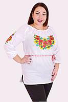 Вышиванка женская 012034 лён, вышиванка женская большого размера, дропшиппинг
