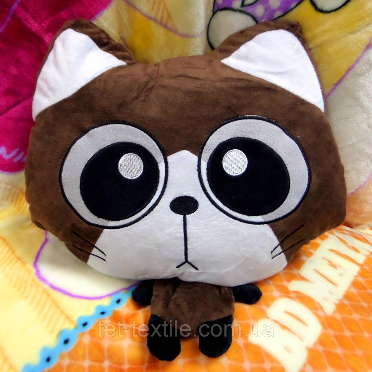 Плед - мягкая игрушка 3 в 1 (Котик коричневый)