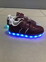 Детские кеды кроссовки с лед подсветкой светящиеся для мальчика 34 размер