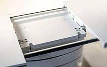 Стол обеденный Fano  столешница МДФ Белый лак, каркас матовая сталь 140-200x90 (Signal TM), фото 3