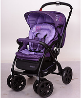 Детская коляска универсальная с алюминиевой рамой и перекидной ручкой G328-9 фиолетовая