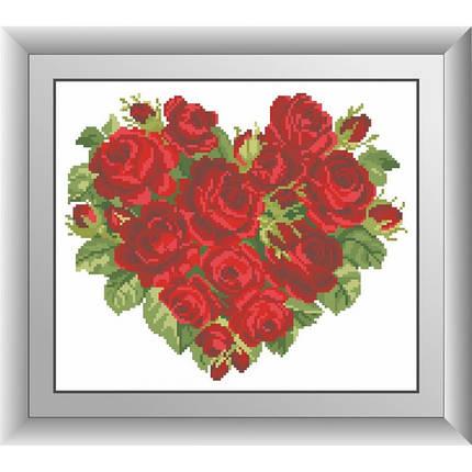 """Набор для рисования камнями """"Сердце роз"""", фото 2"""