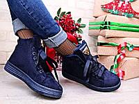 Жіночі зимові черевики на зав'язках, фото 1