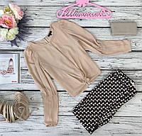 Нарядная блуза Topshop с декоративным узлом и объемными рукавами  BL49153