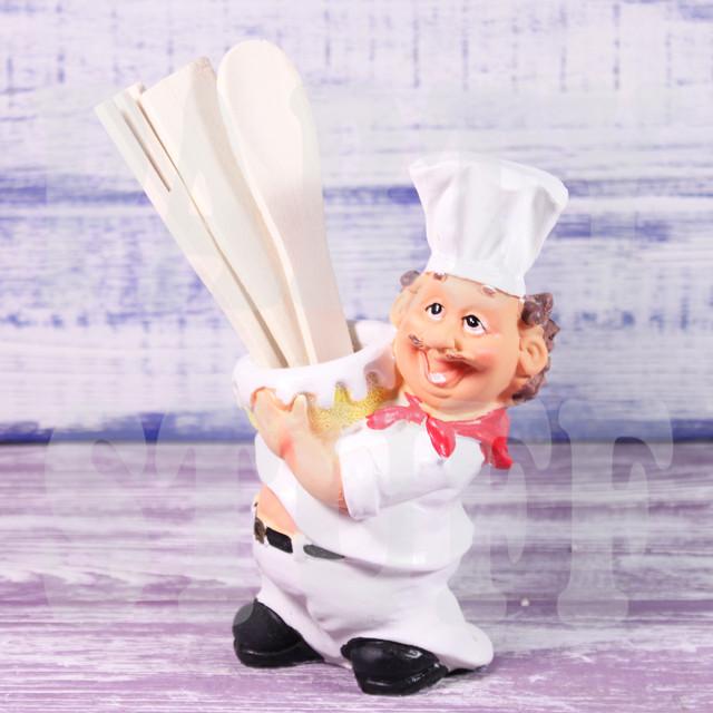 подставка для приборов повар с миской