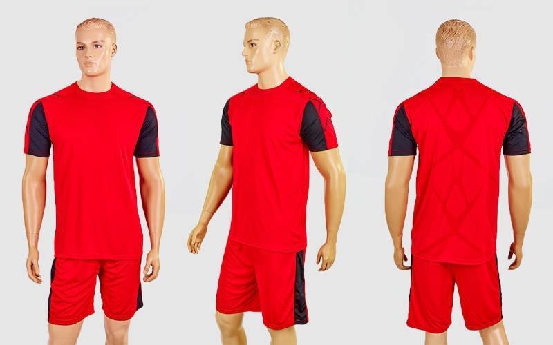 Футбольная форма Height CO-1014-R (PL, р-р M-XXL, красный-черный, шорты красные)