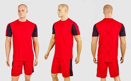 Футбольная форма Height CO-1014-R (PL, р-р M-XXL, красный-черный, шорты красные), фото 2
