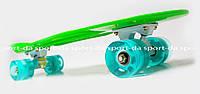 PENNY ORIGINAL зеленый со светящимися голубыми колесами