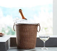 Ведерко для льда Pottery Barn, Obispo Woven Rattan Ice Bucket