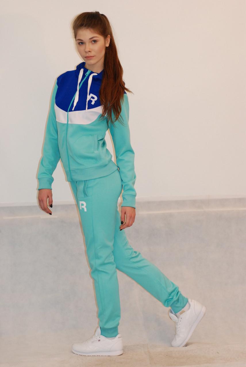 44caf31a Женский спортивный костюм Reebok бирюзовый (68906-1) код 924А - СПОРТ-СИТИ