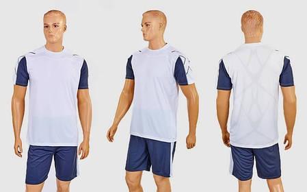 Футбольная форма Height CO-1014-W (PL, р-р M-XXL, белый-серый, шорты серые), фото 2