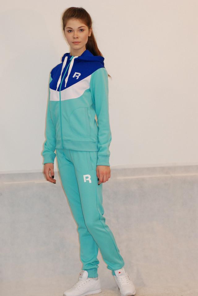 faaac42c Женский спортивный костюм Reebok бирюзовый (68906-1) код 924А, цена ...