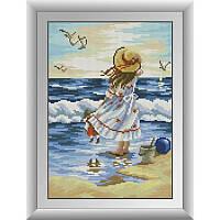 """Набор для рисования камнями """"Морской пейзаж"""""""