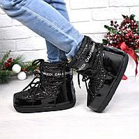 Луноходы зимние угги Moon черный сахар 3930 , зимняя обувь