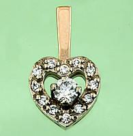 Золотий підвіскок з діамантом