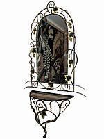 Кованый консольный столик с зеркалом, фото 1