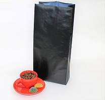 Пакет с центральным швом черный