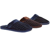 Тапочки мужские Elmob AB-02 синие и коричневые dark blue and drown (40-45)