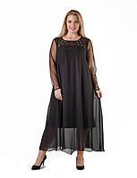 Платье вечернее в большом размере G3011 (р.54-58euro)
