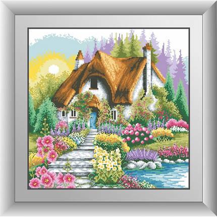 """Набор для рисования камнями """"Домик с живописным садом"""", фото 2"""