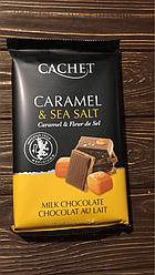 Шоколад Cachet с морской солью и карамелью 300 грм