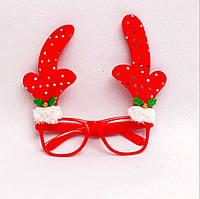 Очки детские декоративные новогодние с рожками