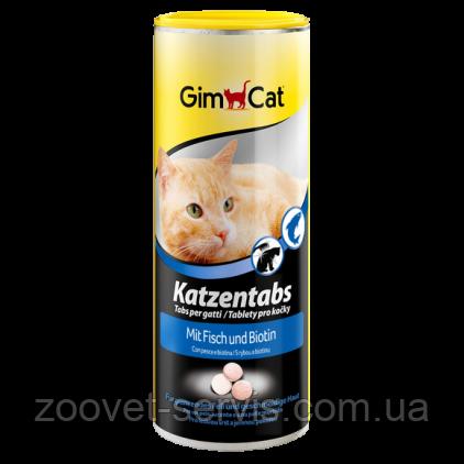 Витамины с рыбой и биотином для кошек Gimpet Katzentabs, фото 2