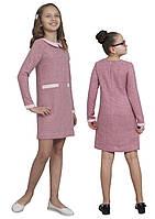 Платье  детское с рукавом М -1111 рост110 116 12 128 134 140 146 152 158 164 170 розовое, фото 1