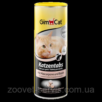 Витамины с сыром Маскарпоне, биотином и ТГОС для кошек Gimpet Katzentabs, фото 2